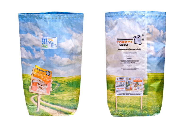 OPEN GLUED PAPER BAG  WITH HDPE FILM