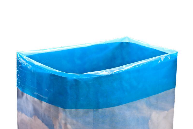 ... z wkładką polietylenową LDPE barwioną
